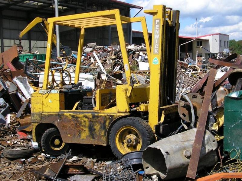 restauration d'un chariot élévateur C16