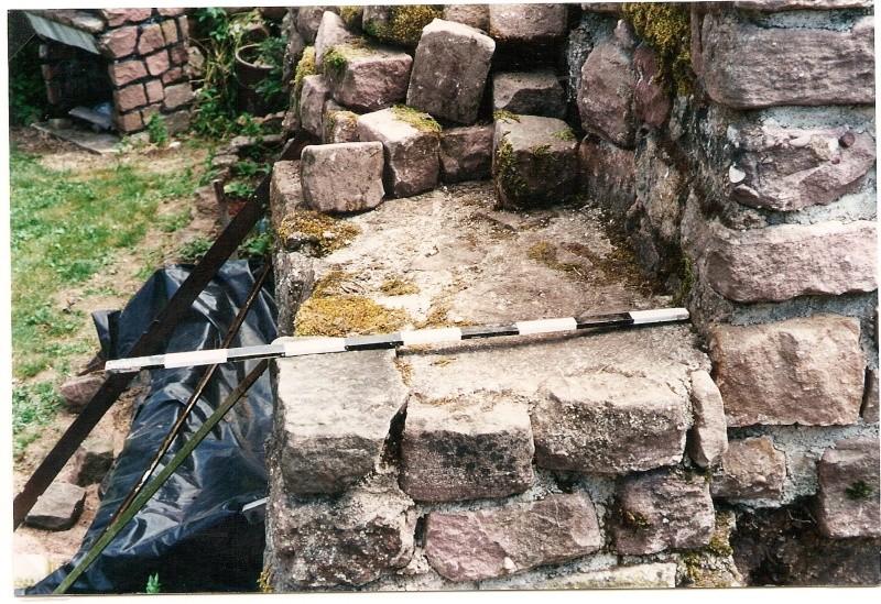 Restauration de la tourelle du mur d'enceinte chez Mr.Kratz 1111