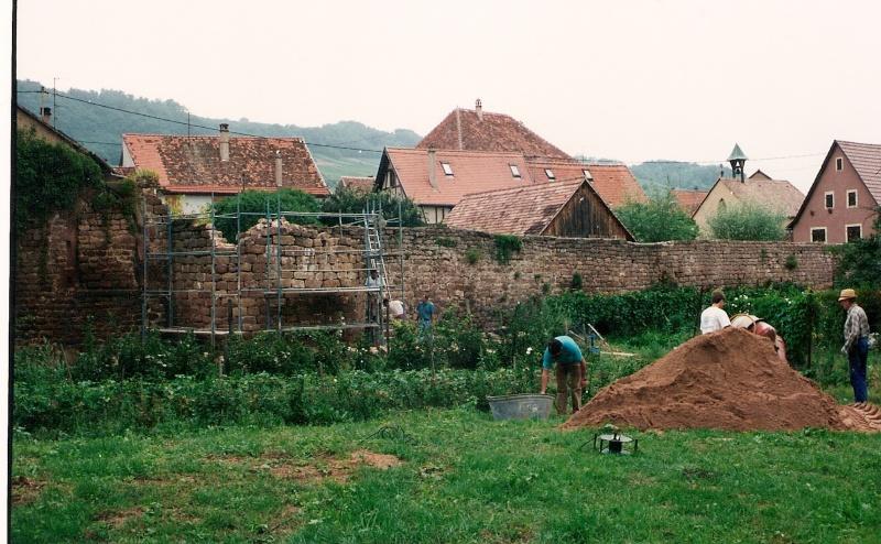 Restauration de la tourelle du mur d'enceinte chez Mr.Kratz 1411