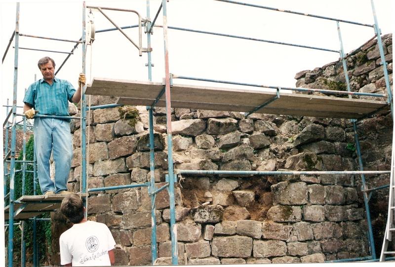 Restauration de la tourelle du mur d'enceinte chez Mr.Kratz 1511