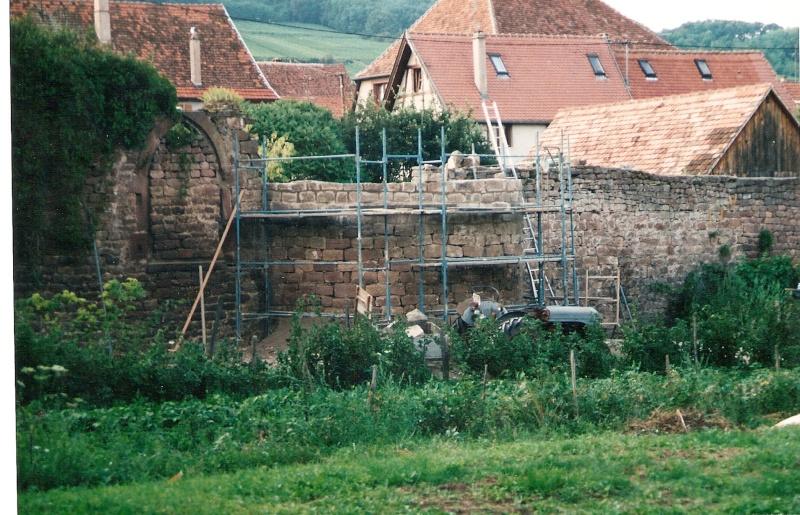 Restauration de la tourelle du mur d'enceinte chez Mr.Kratz 1610