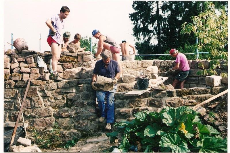 Restauration de la tourelle du mur d'enceinte chez Mr.Kratz 1810
