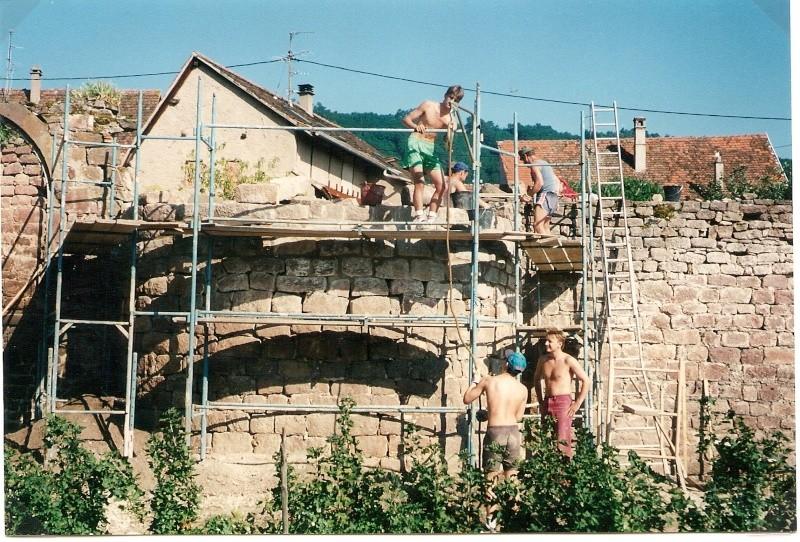 Restauration de la tourelle du mur d'enceinte chez Mr.Kratz 2210