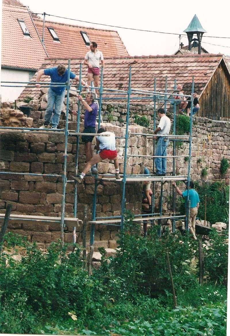 Restauration de la tourelle du mur d'enceinte chez Mr.Kratz 2510