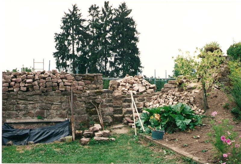 Restauration de la tourelle du mur d'enceinte chez Mr.Kratz 2610