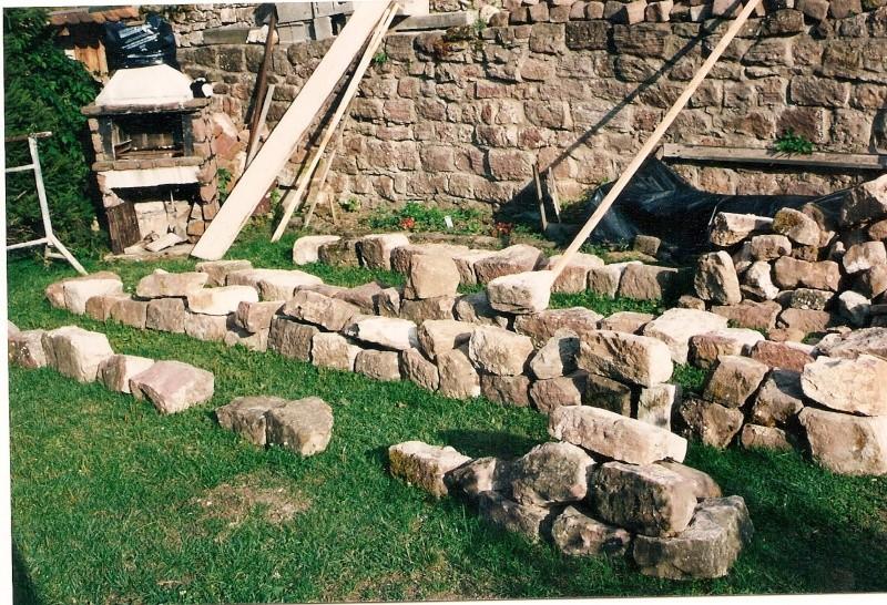 Restauration de la tourelle du mur d'enceinte chez Mr.Kratz 2710