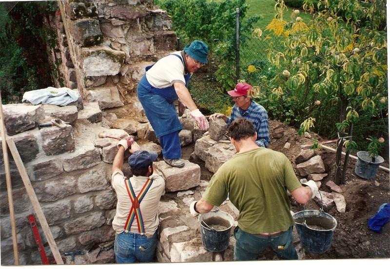 Restauration de la tourelle du mur d'enceinte chez Mr.Kratz 2811