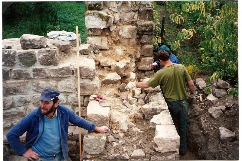 Restauration de la tourelle du mur d'enceinte chez Mr.Kratz 2910