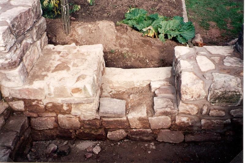 Restauration de la tourelle du mur d'enceinte chez Mr.Kratz 3110