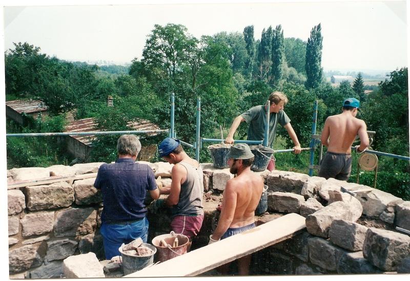 Restauration de la tourelle du mur d'enceinte chez Mr.Kratz 3210