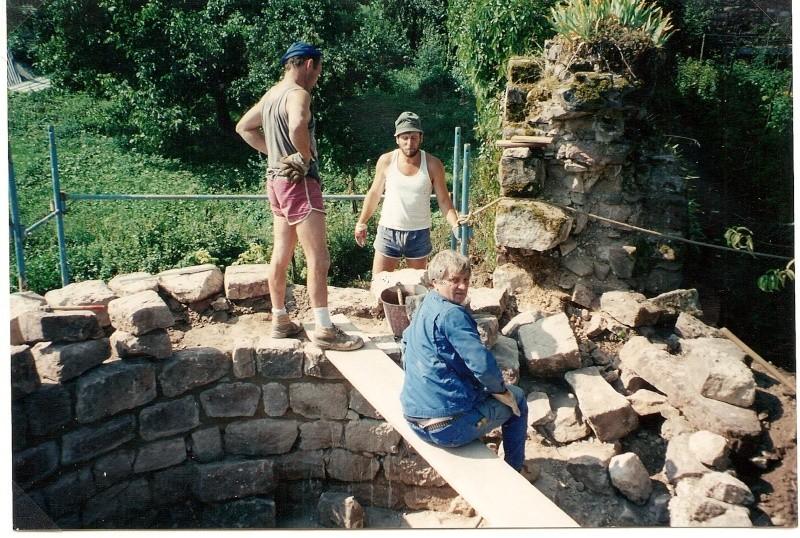 Restauration de la tourelle du mur d'enceinte chez Mr.Kratz 3310