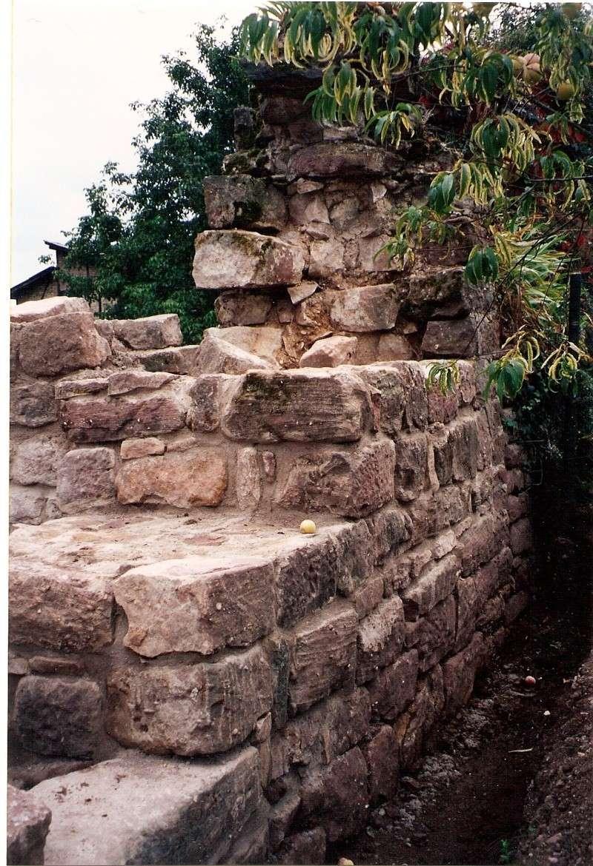 Restauration de la tourelle du mur d'enceinte chez Mr.Kratz 3410