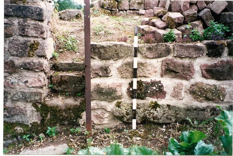Restauration de la tourelle du mur d'enceinte chez Mr.Kratz 911