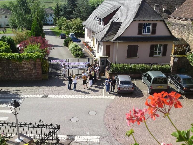 Mercredi 10 juin 2009 :jour de grève au Freihof à Wangen P10-0610