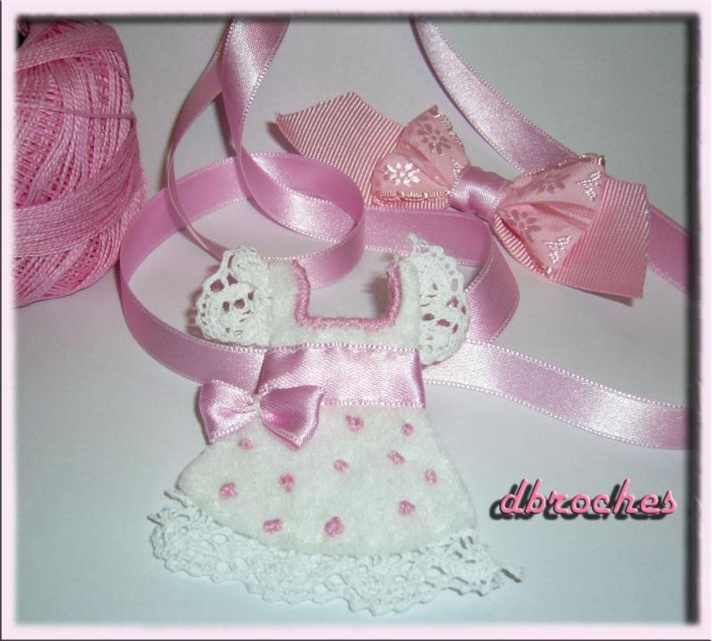 Vestido bebe blanco y rosa. Baby10