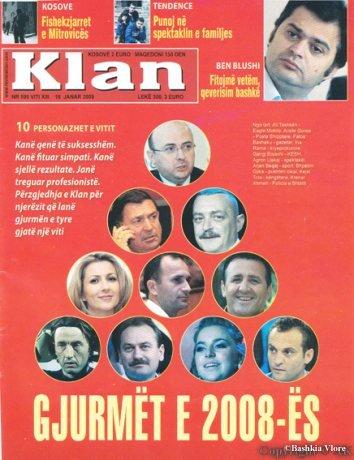 """Shpëtim Gjika zgjidhet nga Revista e madhe Shqiptare """"KLAN"""" si një nga personazhet e vitit 2008 Revist10"""