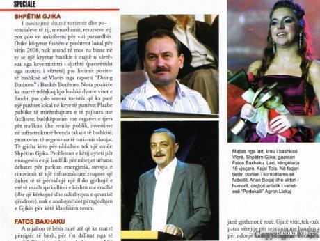 """Shpëtim Gjika zgjidhet nga Revista e madhe Shqiptare """"KLAN"""" si një nga personazhet e vitit 2008 Revist12"""