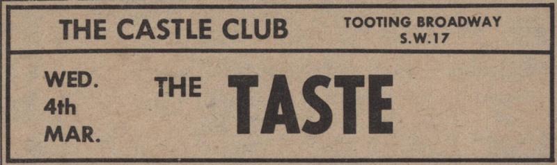 Taste Mk 2 (1968-1970) - Page 5 Advert11