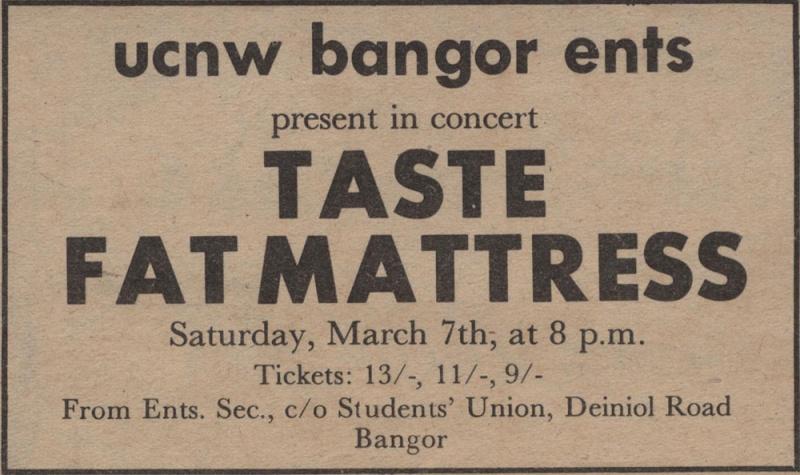 Taste Mk 2 (1968-1970) - Page 6 Advert13