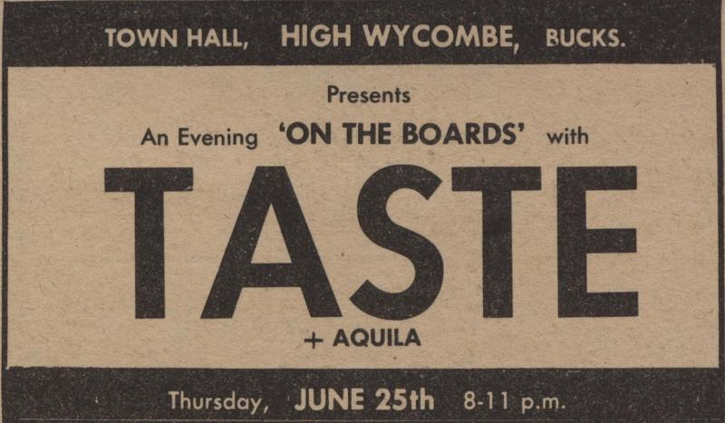 Taste Mk 2 (1968-1970) - Page 6 Advert15