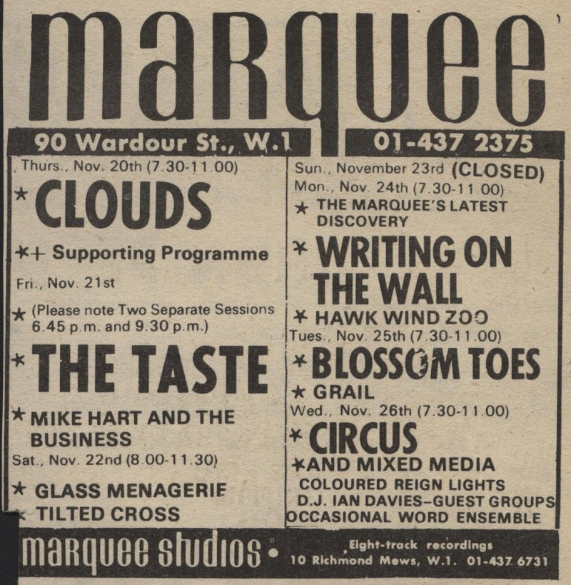 Taste Mk 2 (1968-1970) - Page 6 Advert19