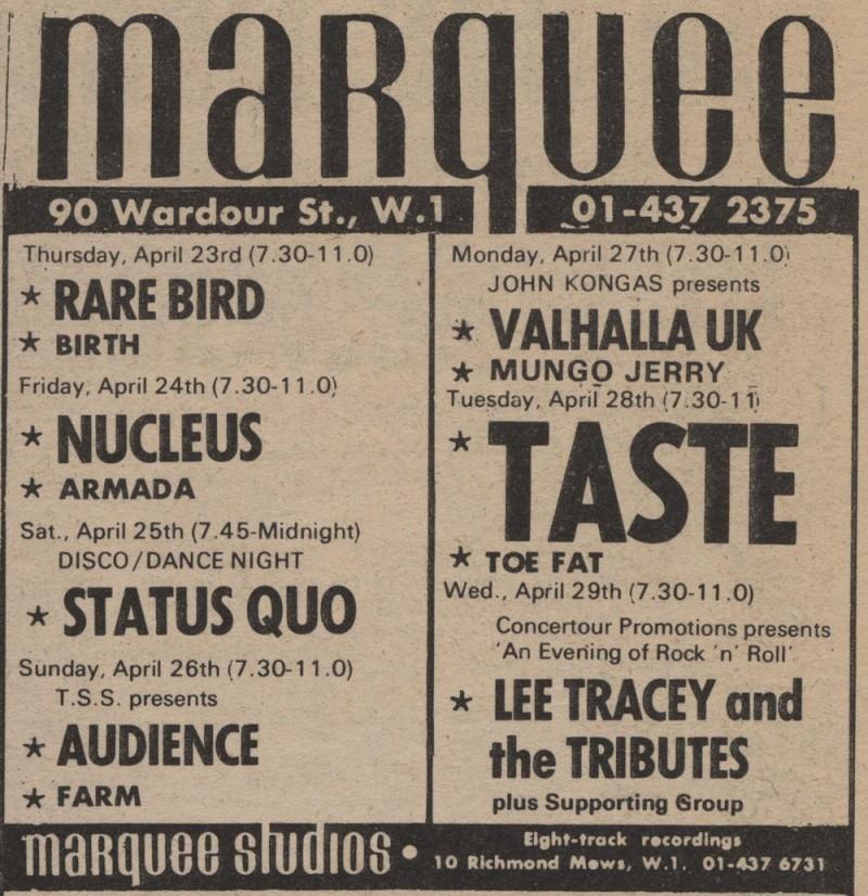 Taste Mk 2 (1968-1970) - Page 6 Advert21