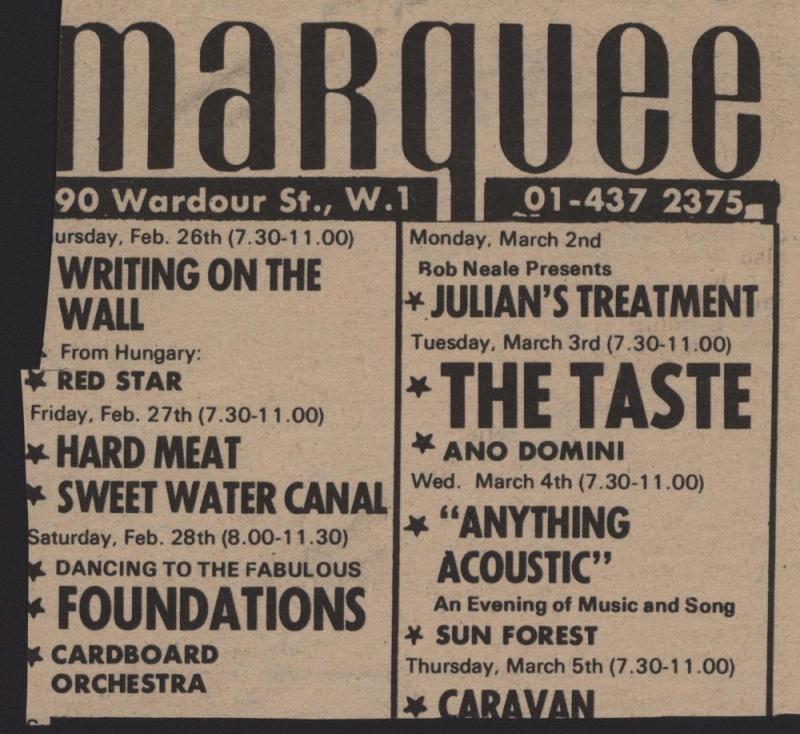 Taste Mk 2 (1968-1970) - Page 6 Advert22
