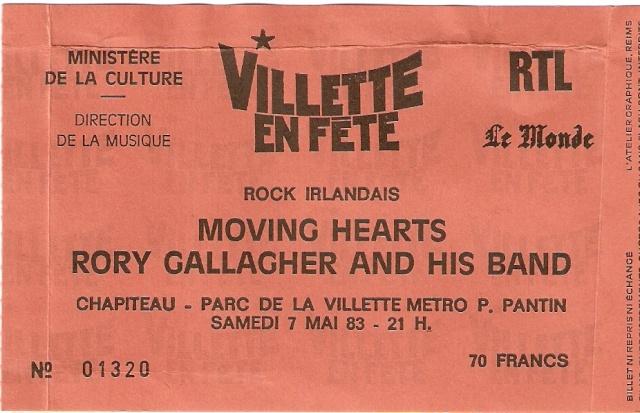 Photos de Fab - La Villette, Paris, 7 mai 1983 Ticket10
