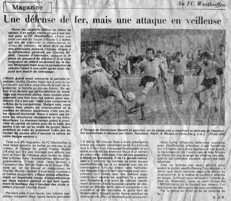 L e FC Wangen Westhoffen - Page 2 Numar138