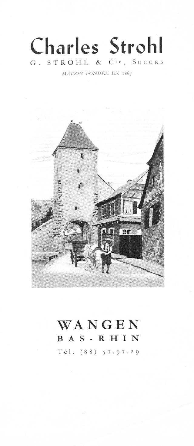 Distillerie et négoce en vins STROHL à Wangen Numar142
