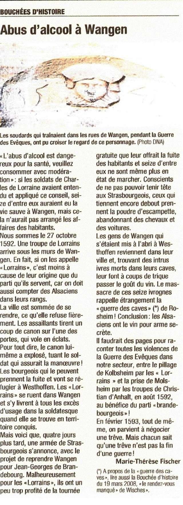 Wangen - Bouchées d'Histoire- Marie-Thérèse Fischer-DNA Numari82