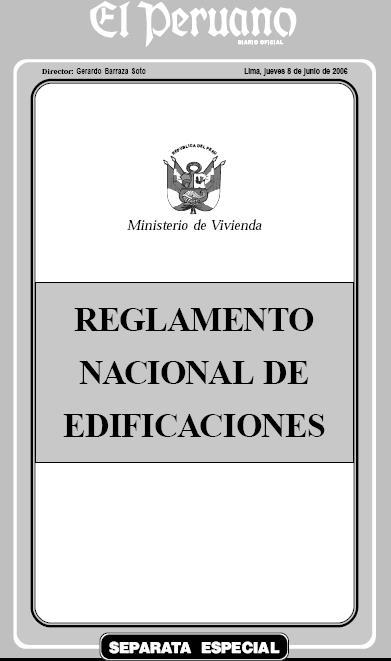 REGLAMENTO NACIONAL DE EDIFICACIONES Reglam10