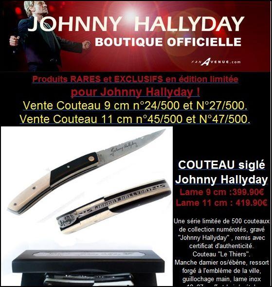Couteau johnny hallyday chez fan avenue Captur74