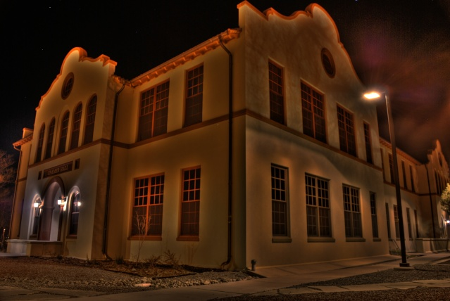 Cramer Hall, New Mexico Tech (at night) Hdr610