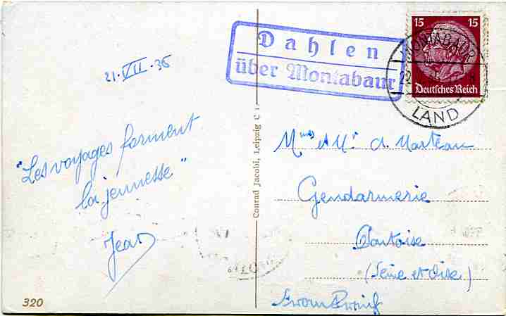 Tampon allemand 1935 Dahlen10