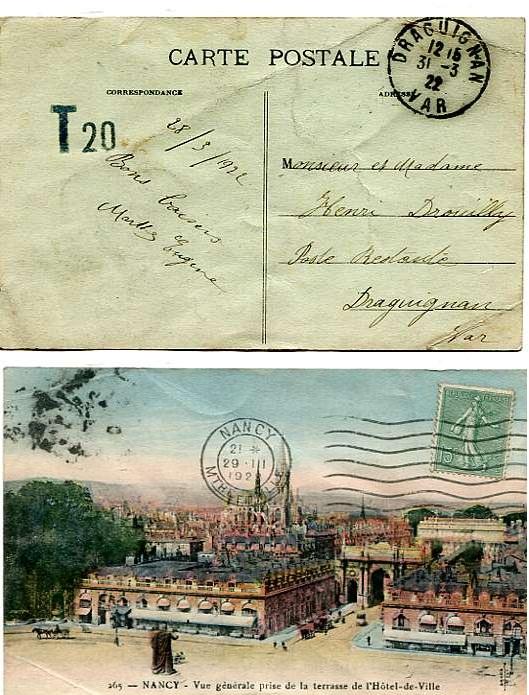Taxe au tampon de 1921 Dragui10