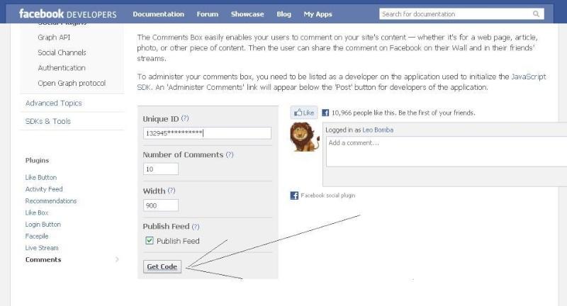 Tạo chức năng comment nhanh thông qua facebook 212