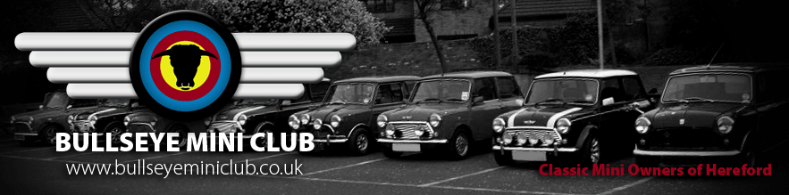 Bullseye Mini Club | Classic Mini Owners Club in Herefordshire Header12