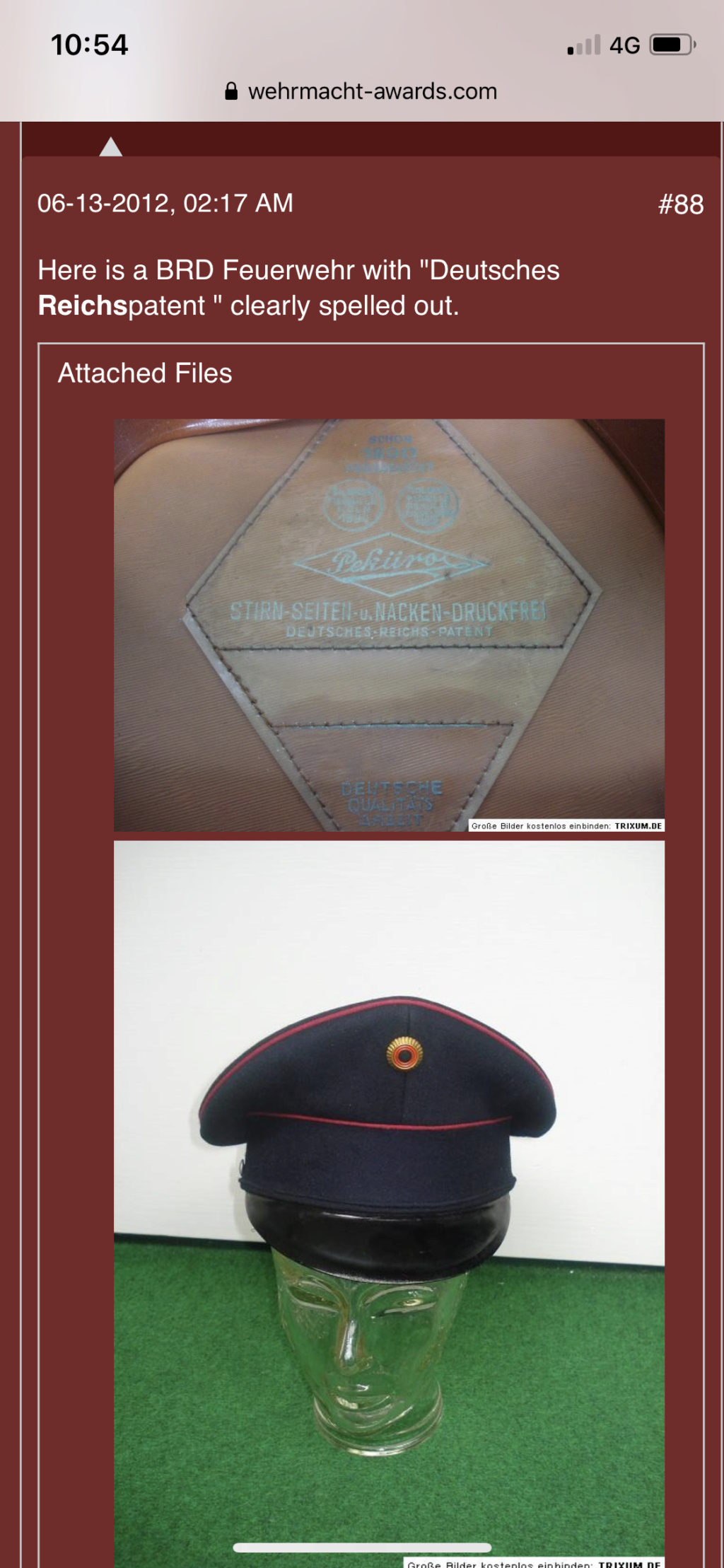 Identification Casquette Officier Luftwaffe F6c28f10