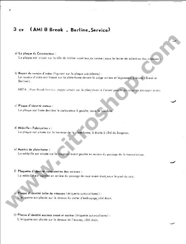 Position des plaquettes Identi24