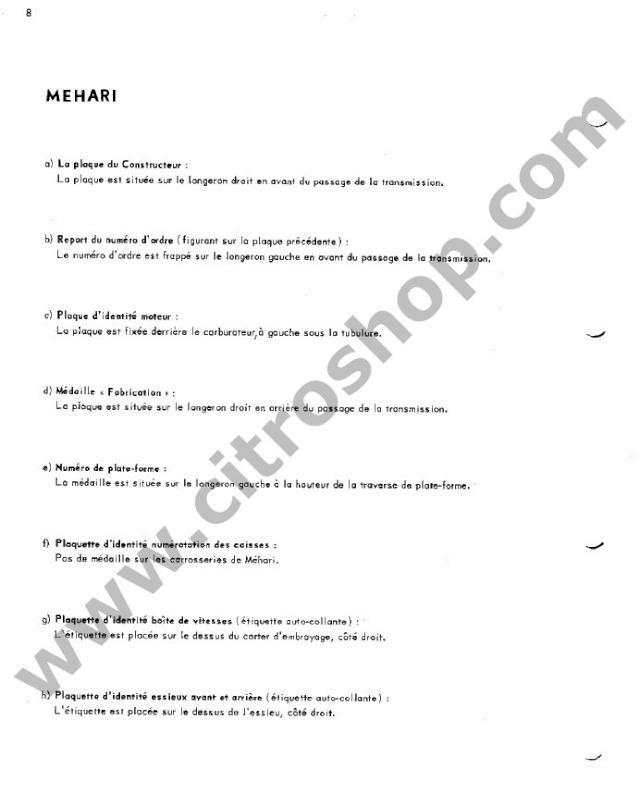 Position des plaquettes Identi28