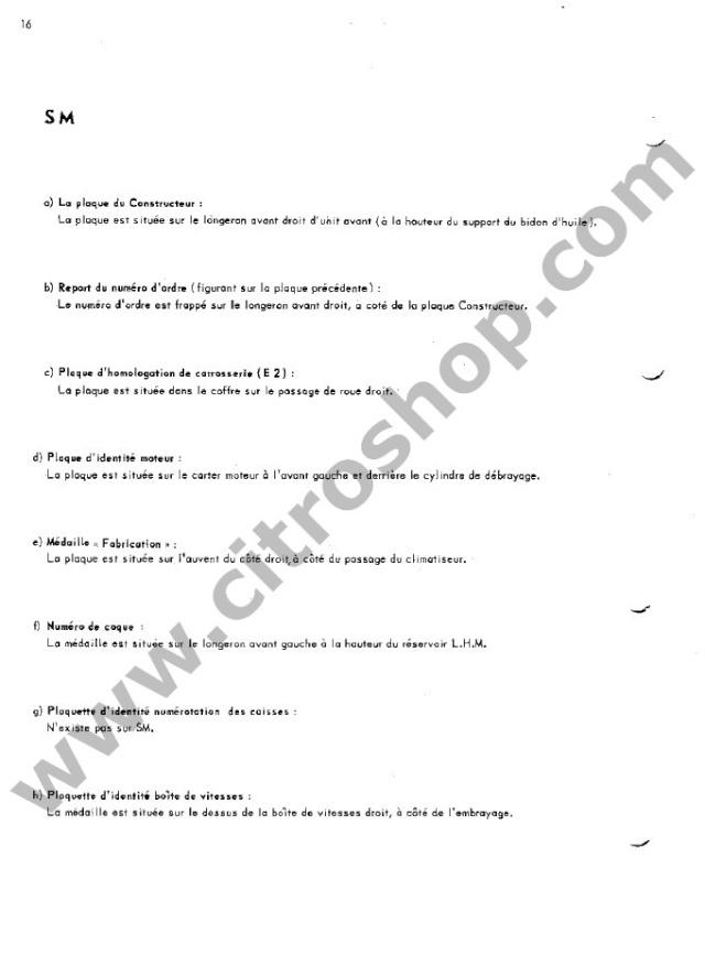 Position des plaquettes Identi38