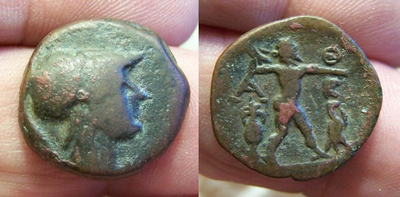 Petit bronze grec au revers intéressant Bronze10