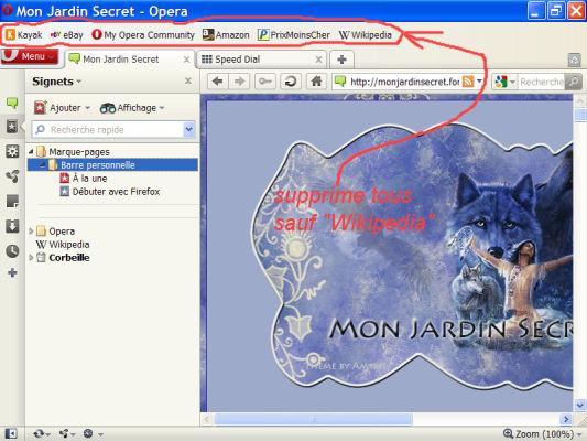 Opéra - navigateur pour débit lent et vieux PC O2010