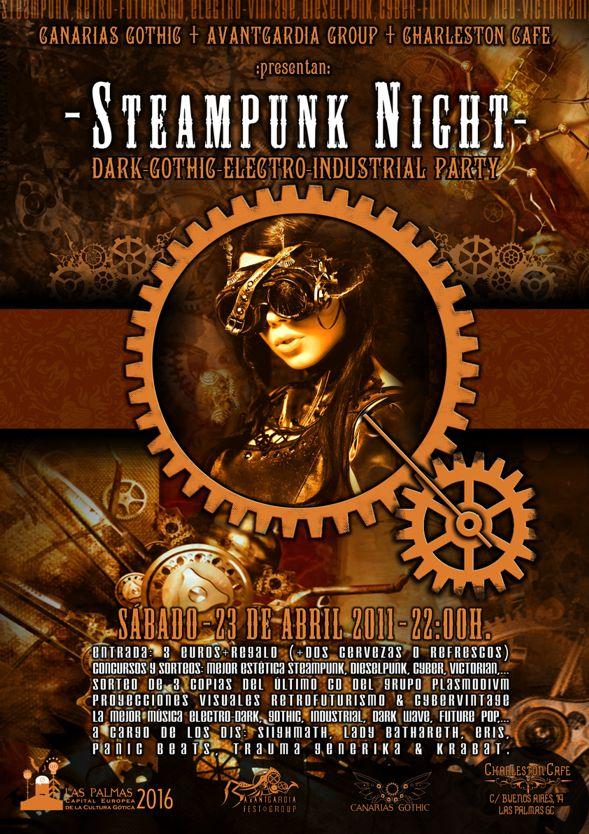 Steampunk Night - Fiesta Dark-Gothic-Electro-Industrial @ Charleston Cafe Flyer_10