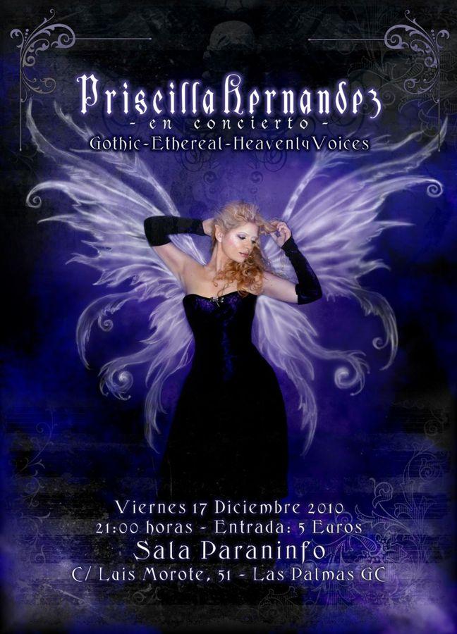El 'gótico etéreo' de Priscilla Hernández en Las Palmas de Gran Canaria Prisci10
