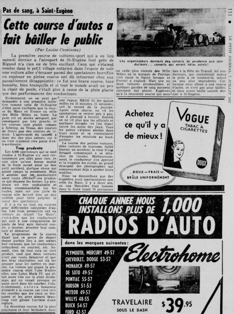Vielles publicitées de course au Québec 1957_p10