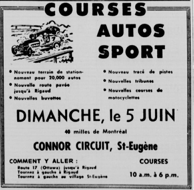 Vielles publicitées de course au Québec 1960_510