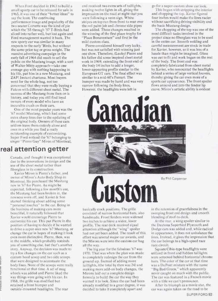 La Mustang 1967 modifié par Xavier Miron de Montréal Super_12
