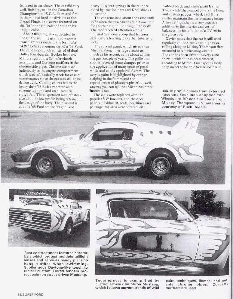 La Mustang 1967 modifié par Xavier Miron de Montréal Super_13
